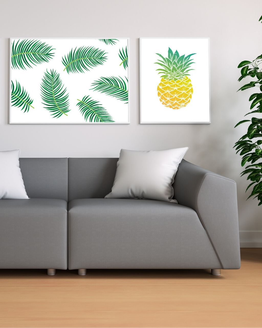 Dekoracje tropikalne – inspiracje wnętrz + plakaty do pobrania