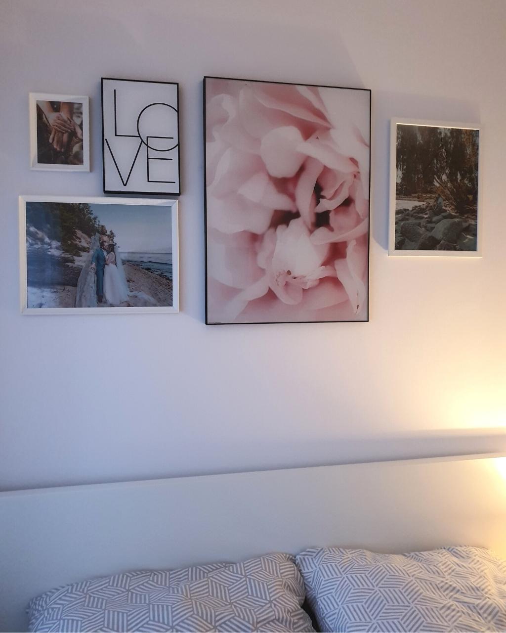 Obrazy nad łóżkiem w sypialni - moja metamorfoza!